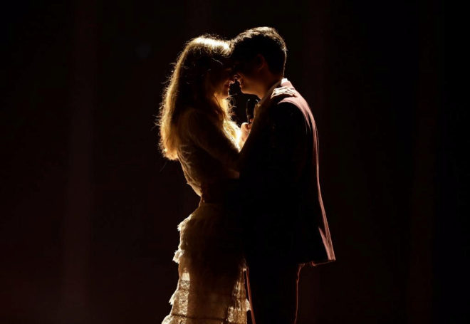 Amaia y Alfred durante un ensayo de Tu Canción en Eurovisión 2018