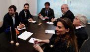 Los consejeros huidos en Bélgica junto a Carles Puigdemont y Roger...