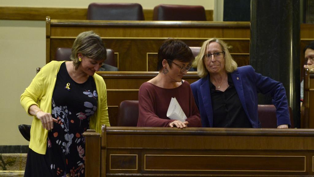 Congreso de los Diputados. Alba Vergés (ERC), Assumpta Escarp (PSC) y Marta Ribas (En Comú Podem).