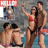 Eleni Foureira y Alberto Botía en una portada de Hola en su edición...