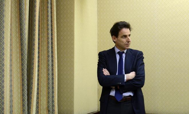 El empresario Javier López Madrid en el Congreso de los Diputados.