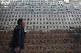 Un memorial que recuerda a las víctimas del terremoto de Sichuan en...