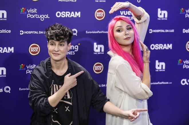 La compositora Isaura (izquierda) y la cantante Cláudia Pascoal.