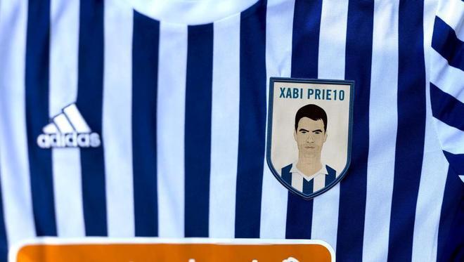 Camiseta con el rostro de Xabi Prieto que la Real lucirá ante el Leganés.