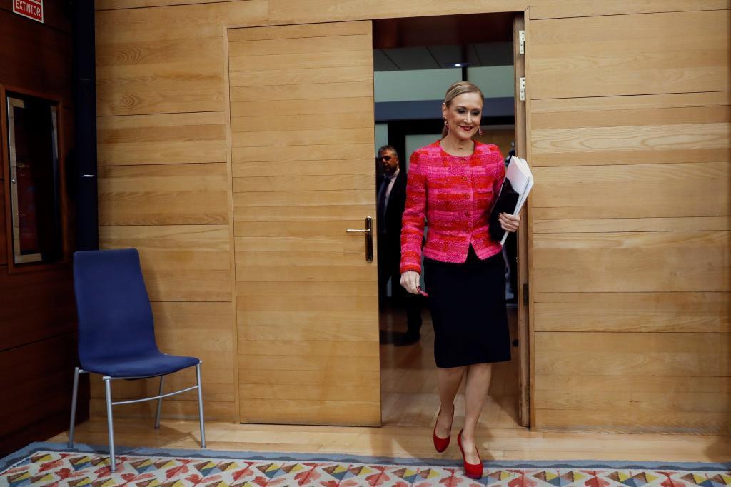 Cifuentes, el pasado 12 de abril  en la Asamblea de Madrid.