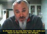 Fotograma del primer vídeo de Luciano Méndez.