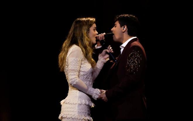 Amaia y Alfred, en uno de los ensayos en Lisboa.