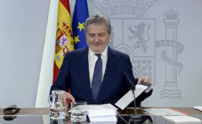 El ministro Portavoz del Gobierno, Ínigo Méndez de Vigo, tras la reunión del Consejo de Ministros