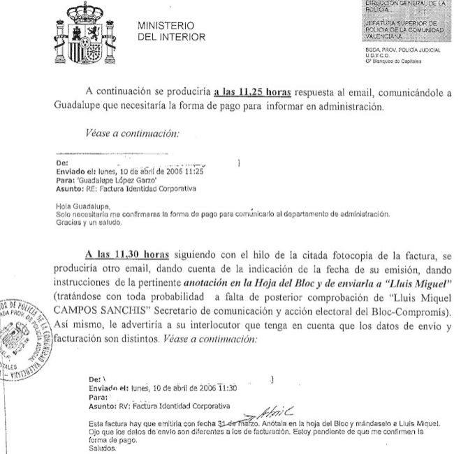 Sostiene que Crespo Gomar facturó a empresarios trabajos de los