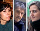 Edurne Portela, Ramón Saizarbitoria y Gabriela Ybarra.
