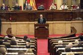 El candidato Quim Torra a la presidencia de Generalitat en el pleno de...