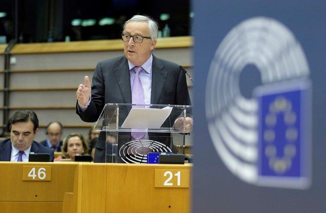El presidente de la Comisión Europea, Jean-Claude Juncker, en el...