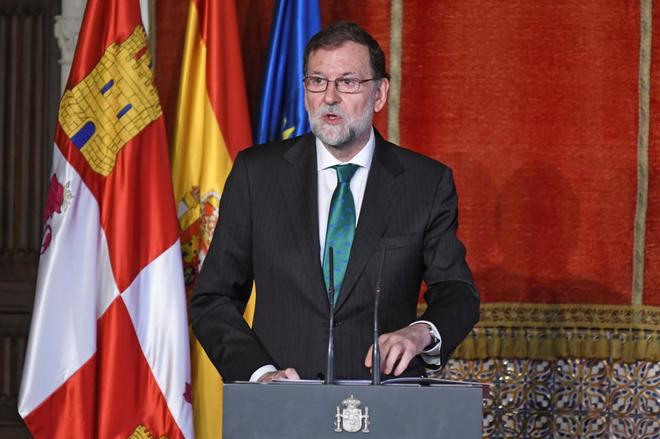 Mariano Rajoy, hoy en Segovia.