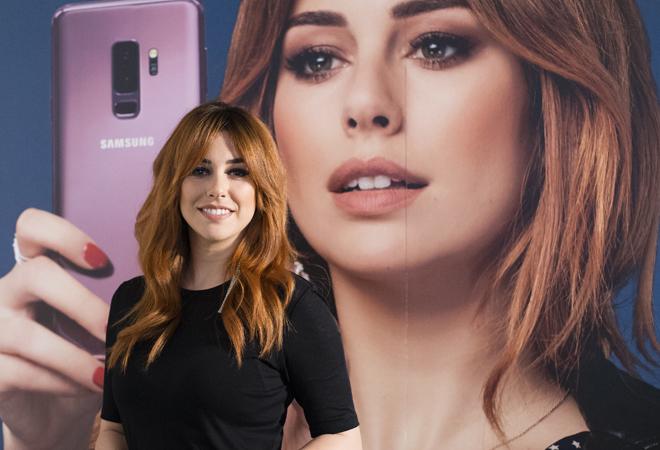 Blanca Suárez, durante la presentación de la campaña Smartgirl de la firma Samsung en Madrid.