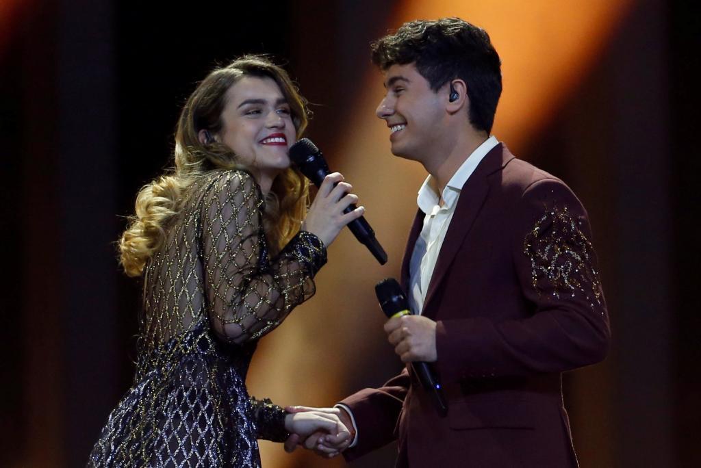 Alfred y Amaia, durante su actuación en Eurovisión.