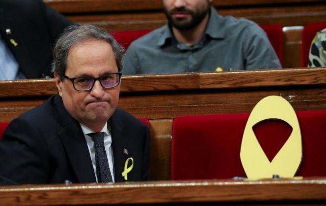 Quim Torra es investido y entrega la Presidencia a PuigdemontQuim