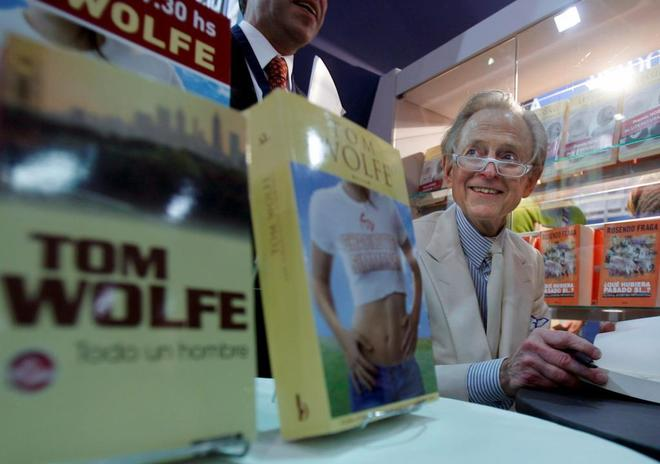 Tom Wolfe en la Feria del Libro de Buenos Aires el 3 de mayo de 2008.