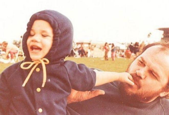 Meghan Markle, junto a su padre, en una imagen publicada en Instagram.