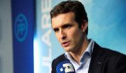Pablo Casado, vicesecretario de Comunicación del PP, hace...
