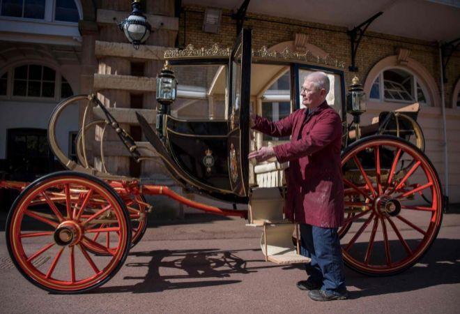 La carroza Ascot Landau en la que se montarán los recién casados.