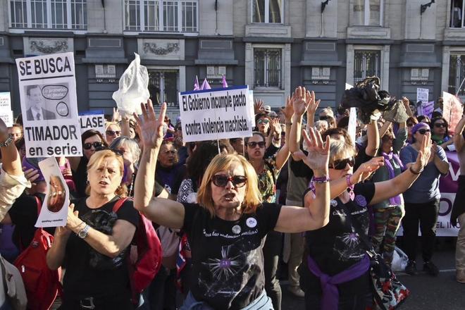 Manifestación femenista por el incumplimiento del pacto contra la...