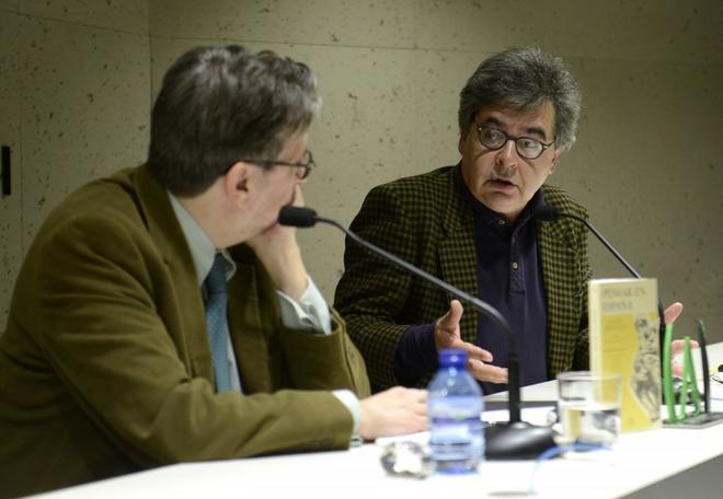 Manuel Hidalgo, en la presentación de su libro 'Pensar en España',...