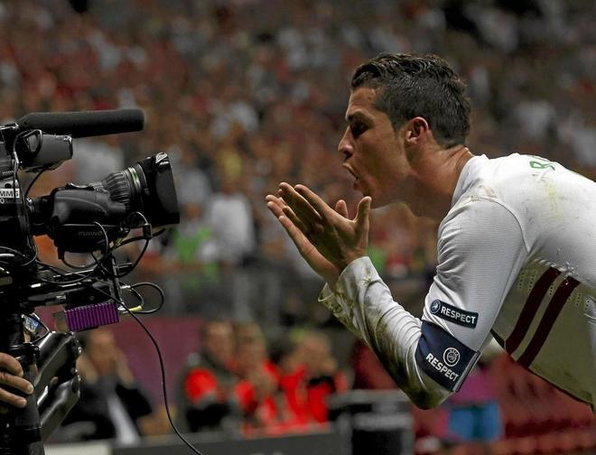 Cristiano Ronaldo, en la Eurocopa de 2012.