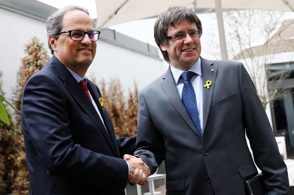 Quim Torra y Carles Puigdemont, el pasado martes en Berlín.