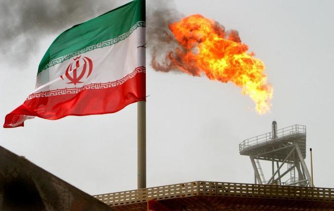 Planta de producción de gas en Irán.