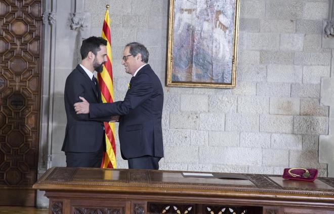 El catanazi Torra se proclamó ayer recaudillo del golpe de