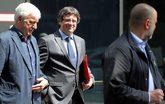 El ex 'president' Carles Puigdemont, en Berlín, junto al empresario...