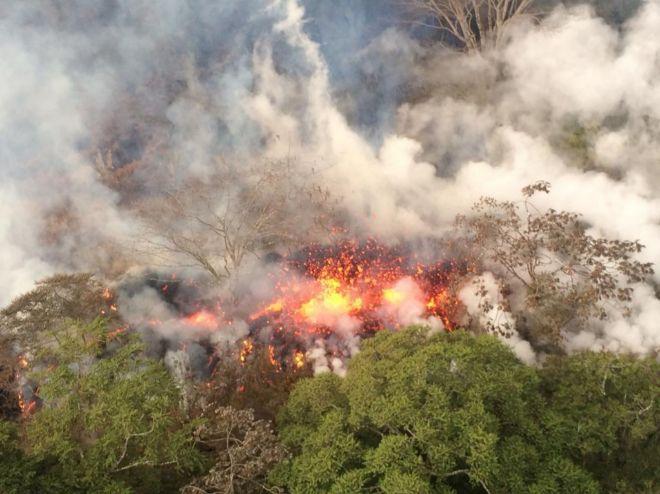 El volcán Kilauea en erupción