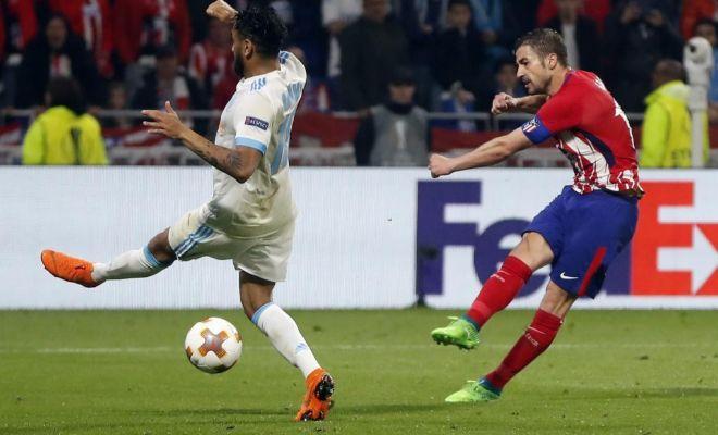 El disparo de Gabi que cerró el triunfo, en la final de la Europa League frente al Marsella.