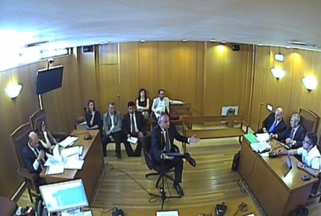 Francisco Alandí, durante su declaración en el juicio.