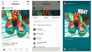 Instagram hace oficial el 'regram' en las Stories