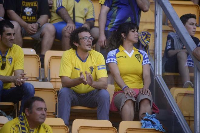 'Kichi' y Teresa Rodríguez en el estadio Ramón de Carranza.