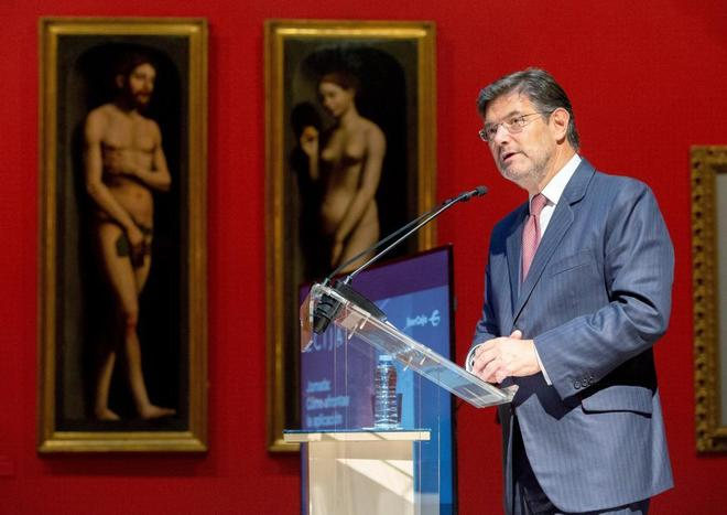 El ministro de Justicia, Rafael Catalá, el jueves, en un acto sobre...