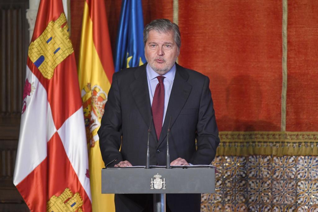 Íñigo Méndez de Vigo, en un acto celebrado en Segovia.