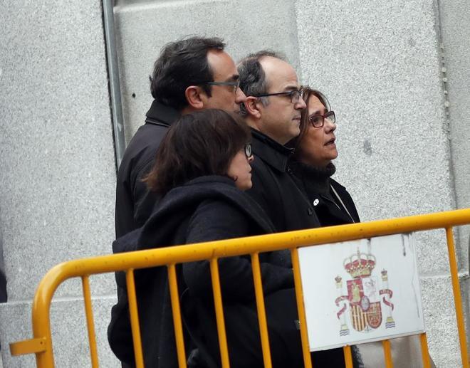Rull y Turull acuden al Tribunal Supremo el día que se les comunicó su encarcelamiento