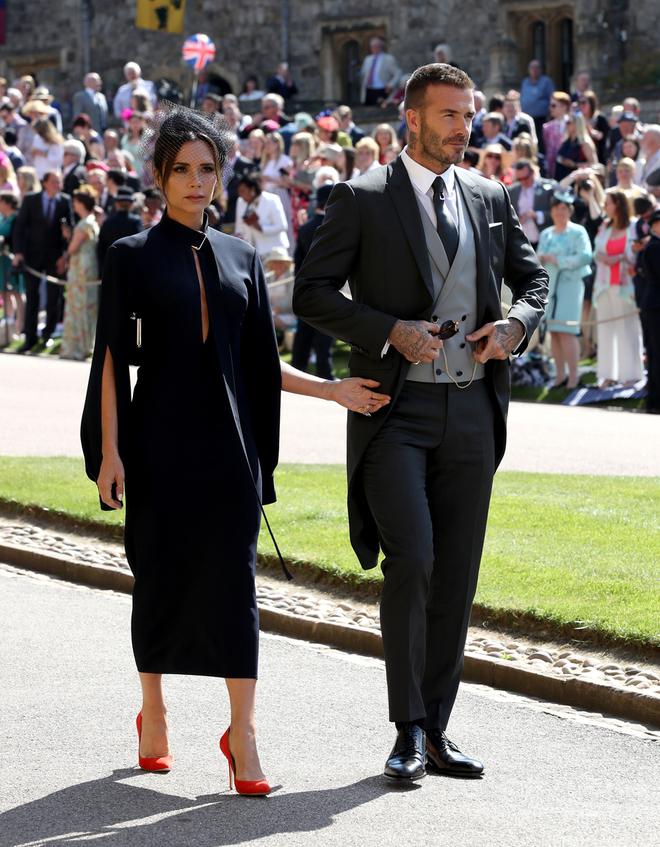 Victoria y David Beckham en la boda del príncipe Harry y Meghan Markle.