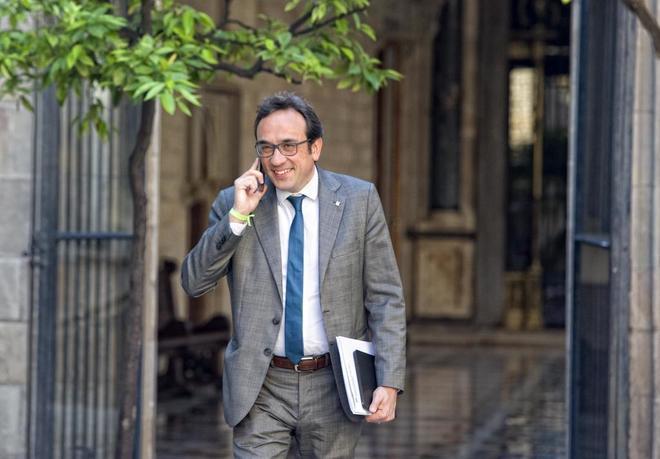 Josep Rull, en una reunión del Consell Executiu en foto de archivo