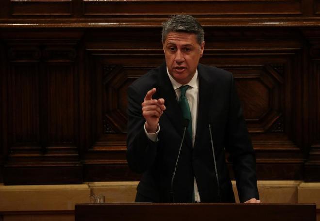 El presidente del PP catalán, Xavier García Albiol, en el Parlament