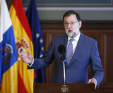 El presidente del Gobierno, Mariano Rajoy, en Las Palmas de Gran...