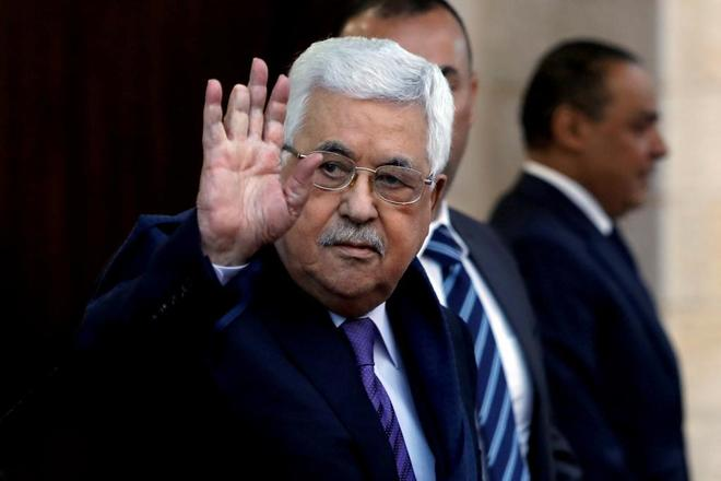 Abu Mazen, en una visita a Ramala, en Cisjordania.