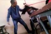 El profesor agarró a la alumna del pelo para asegurarse de que no...