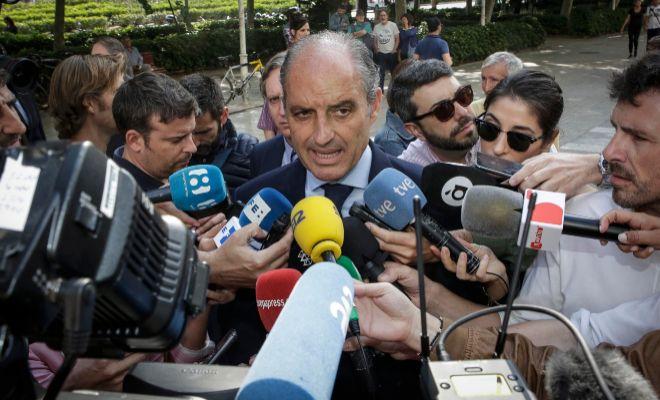 El ex presidente Francisco Camps, el pasado viernes antes de su...