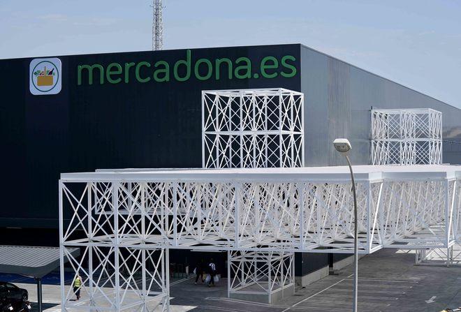 Exterior de la colmena para la venta online de Mercadona en Valencia