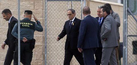 Quim Torra, en la cárcel de Estremera.