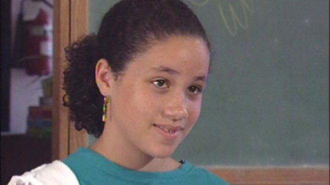 Meghan Markle con 11 años participando en un programa de Nickelodeon.