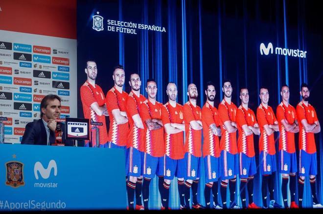 Julen Lopetegui anuncia la lista de jugadores para el Mundial de Rusia.